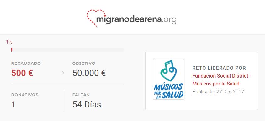 Reto migranodearena Campanas por la Salud www.campanasporlasalud.org